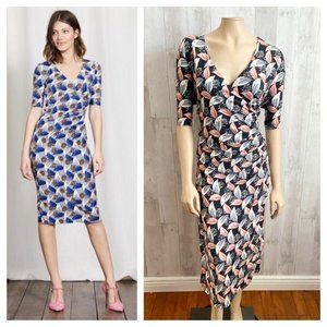 [Boden] Ruth Faux Wrap Floral Stretch Midi Dress